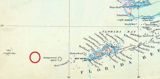 Atocha Map, Key West, FL